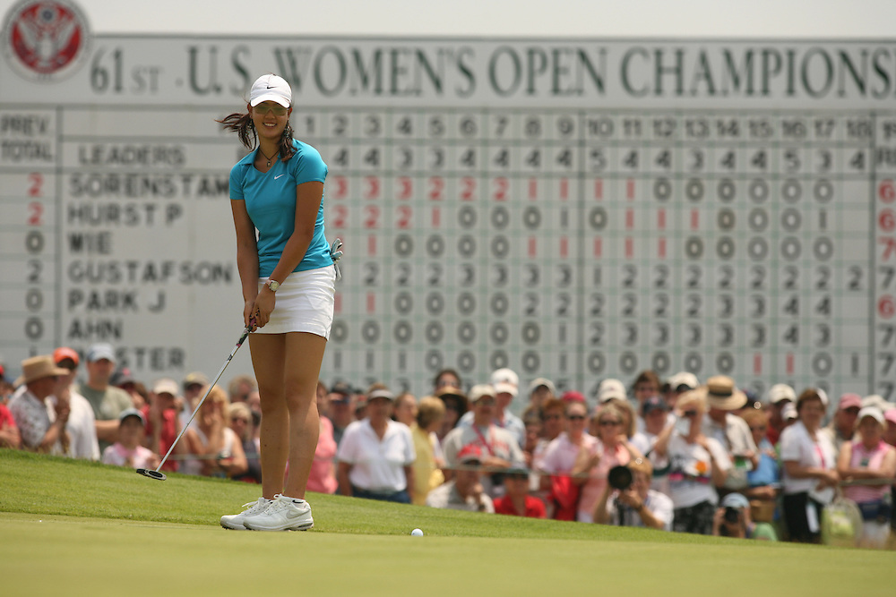 Michelle Wie.2006 US Women's Open Championship.Third Round.Newport Country Club.Newport, Rhode Island.Sunday, July 2 2006.07-02-06.Photograph by Darren Carroll. .