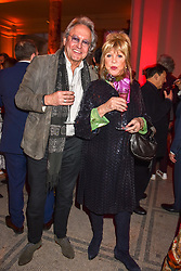 Pattie Boyd and Rod Weston at the Mary Quant VIP Preview at The Victoria & Albert Museum, London, England. 03 April 2019. <br /> <br /> ***For fees please contact us prior to publication***