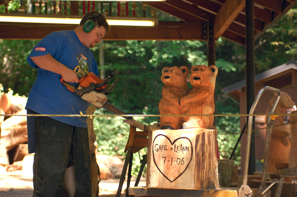 The Legend of Bigfoot, Chainsaw carvings near Garberville, California, United States of America