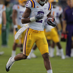 Oct 31, 2009; Baton Rouge, LA, USA; LSU Tigers wide receiver Rueben Randle (2) during warm ups prior to kickoff against the Tulane Green Wave at Tiger Stadium. LSU defeated Tulane 42-0. Mandatory Credit: Derick E. Hingle