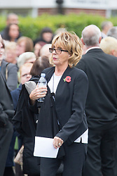 © Licensed to London News Pictures. 03/11/2015. Manchester, UK. Royal family actress Sue Johnston at The funeral of Kirsty Howard who was given just weeks to live at the age of four has taken place in Manchester today. Kirsty Howard was one of only two people in the world born with a back-to-front heart. She died on 24 October having spent years raising millions of pounds for Francis House children's hospice in Manchester. Photo credit: Andrew McCaren/LNP
