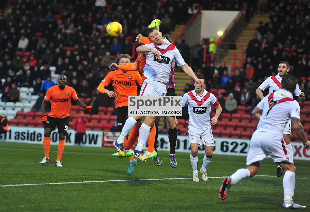Panic in the Airdrie goalmouth as United attack in the Cup....(c) BILLY WHITE | SportPix.org.uk