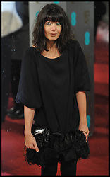 Claudia Winkleman attends  the British Academy Film Awards, The Royal Opera House, Bow Street, London, UK, Sunday February 10, 2013. Photo by Andrew Parsons / i-Images