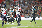Houston Texans Defensive Back Jahleel Addae (37)  celebration during the International Series match between Jacksonville Jaguars and Houston Texans at Wembley Stadium, London, England on 3 November 2019.