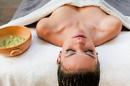 Avocado hair treatment at the El Silencio Lodge and Spa in Costa Rica.