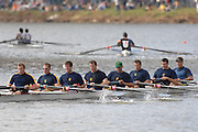 Boston, USA, Master Men's eights,  Pennsylvania AC, approaching the John Weeks Bridge during the Head of the Charles, Race Charles River,  Cambridge,  Massachusetts. Saturday  20/10/2007 [Mandatory Credit Peter Spurrier/Intersport Images]..... , Rowing Course; Charles River. Boston. USA