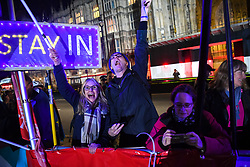 "© Licensed to London News Pictures. 22/10/2019. London, UK. People react outside The Palace of Westminster in front of College Green ahead of crucial votes for PM Boris Johnson government. MPs backed his Withdrawal Agreement Bill - but minutes later voted against the timetable, placing Brexit ""in limbo"". Photo credit: Guilhem Baker/LNP"