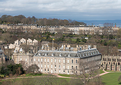 General view of the Palace of Holyroodhouse  in Holyrood, Edinburgh, Scotland, UK