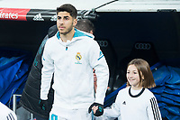 Real Madrid Marco Asensio during King's Cup match between Real Madrid and CD Numancia at Santiago Bernabeu Stadium in Madrid, Spain. January 10, 2018. (ALTERPHOTOS/Borja B.Hojas)