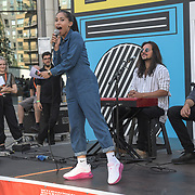 Divided Soul performs at the International Busking Day is returning to Wembley Park on 20 July 2019, London, UK.