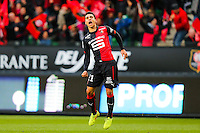 Joie benjamin ANDRE - 25.01.2015 - Rennes / Caen  - 22eme journee de Ligue1<br /> Photo : Vincent Michel / Icon Sport *** Local Caption ***