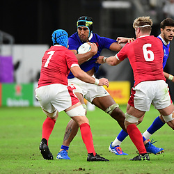 Sebastien VAHAAMAHINA of France during the Rugby World Cup 2019 Quarter Final match between Wales and France on October 20, 2019 in Oita, Japan. (Photo by Dave Winter/Icon Sport) - Oita Stadium - Oita (Japon)