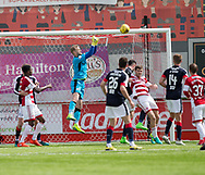 Dundee keeper Scott Bain punches clear - Hamilton Academical v Dundee in the Ladbrokes Scottish Premiership at the SuperSeal Stadium, Hamilton, Photo: David Young<br /> <br />  - &copy; David Young - www.davidyoungphoto.co.uk - email: davidyoungphoto@gmail.com