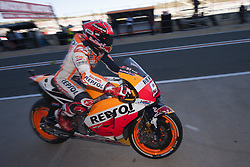 November 11, 2017 - Valencia, Valencia, Spain - 93 Marc Marquez (Spanish) Repsol Honda Team Honda during qualifying the Gran Premio Motul de la Comunitat Valenciana, Circuit of Ricardo Tormo,Valencia, Spain. Saturday 11th of november 2017. (Credit Image: © Jose Breton/NurPhoto via ZUMA Press)