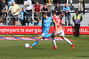 Ben Tozer and Jake Beesley  during the EFL Sky Bet League 2 match between Salford City and Cheltenham Town at Moor Lane, Salford, United Kingdom on 14 September 2019.
