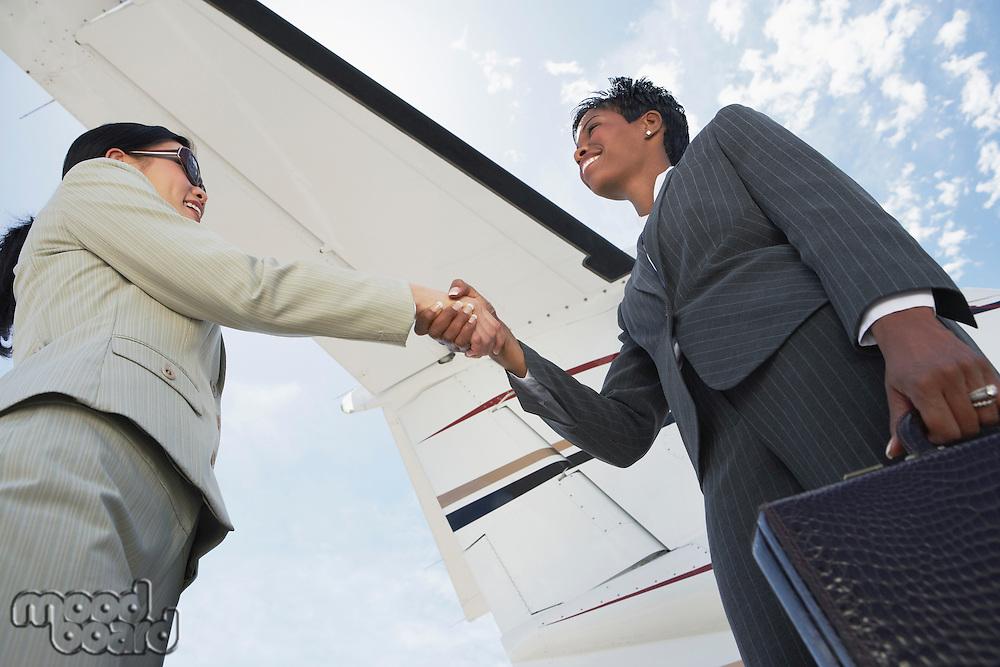 Businesswomen Shaking Hands