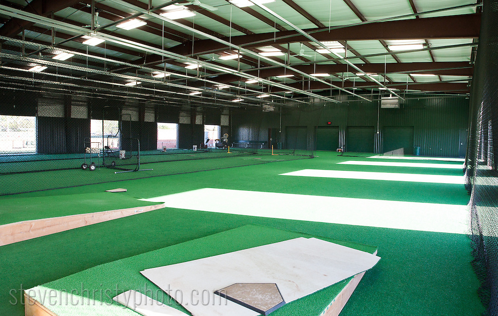 September 28, 2011: The Bobby Murcer Indoor Training Facility on the campus of Oklahoma Christian University is the latest addition to the athletic programs.  The building will allow the baseball program to practice regardless of the weather and also provides office space for the coaches and a locker room for the players.