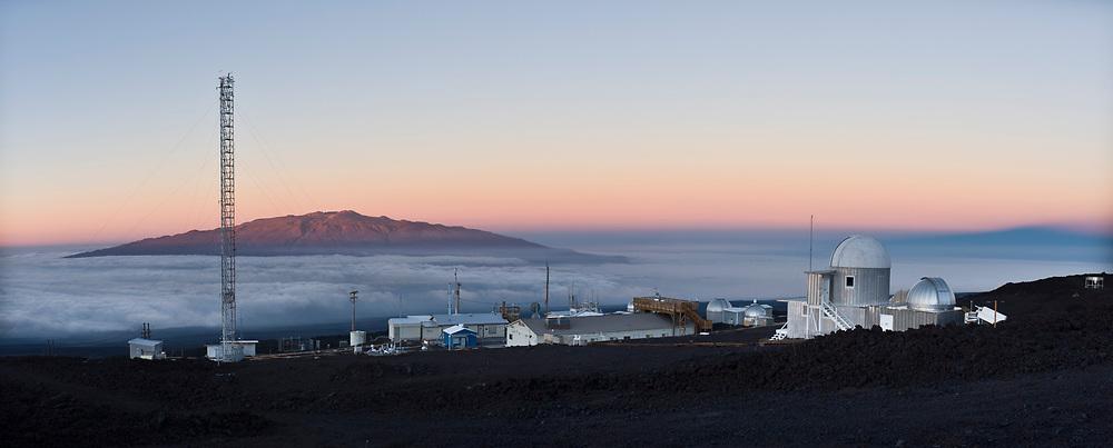 Panoramic view of the Mauna Loa Observatory, Hilo, Hawaii.