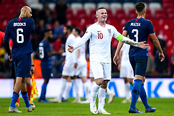 Wayne Rooney of England smiles - Mandatory by-line: Robbie Stephenson/JMP - 15/11/2018 - FOOTBALL - Wembley Stadium - London, England - England v United States of America - International Friendly