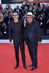 Fabio Rovazzi, Al Bano Carrisi attending the Vox Lux premiere during the 75th Venice Film Festival