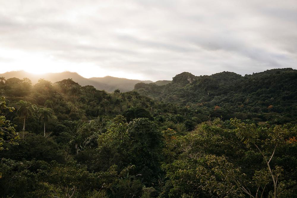 The terrain of the mountains surrounding Fallarones in Eastern Cuba on Jan 25, 2016.
