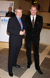 Left to right, RICHARD CARRINGTON Director of the Poetry Archive and Poet Laureate ANDREW MOTION at a reception to launch the Poetry Archive, brainchild of Poet Laureate Andrew Motion held at the British Library, London on 30th November 2005.<br /><br />NON EXCLUSIVE - WORLD RIGHTS