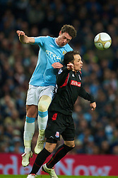 MANCHESTER, ENGLAND - Sunday, February 13, 2010: Manchester City Wayne Bridge and Stoke City's Matthew Etherington during the FA Cup 5th Round match at the City of Manchester Stadium. (Photo by David Rawcliffe/Propaganda)  MANCHESTER, ENGLAND - Sunday, February 13, 2010: Manchester City xxxx and Stoke City's xxxx during the FA Cup 5th Round match at the City of Manchester Stadium. (Photo by David Rawcliffe/Propaganda)
