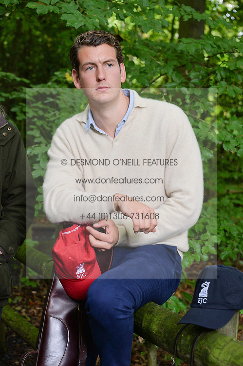 Alasdair Haszlakiewicz at Young Guns raising money for the fight against breast cancer trough Cancer Research UK held at EJ Churchill Shooting School followed by lunch at West Wycombe Park, England. 23 September 2017.