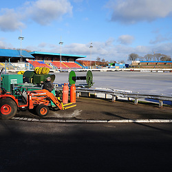 Central Park pitch covers, Cowdenbeath, 27 January 2019