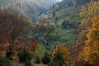 Cultural landscape in Magura, Magura, National Park Piatra Craiului, Transylvania, Southern Carpathians, Romania