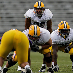 18 April 2009: LSU running back Charles Scott (32) in the backfield during the 2009 LSU spring football game at Tiger Stadium in Baton Rouge, LA.