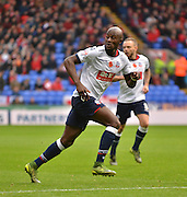 Bolton Defender, Prince-D?sir Gouano keeps his eyes on the play during the Sky Bet Championship match between Bolton Wanderers and Bristol City at the Macron Stadium, Bolton, England on 7 November 2015. Photo by Mark Pollitt.