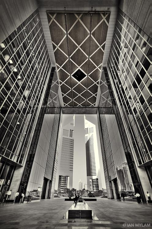 The DIFC and Emirates Towers - Dubai, U.A.E.