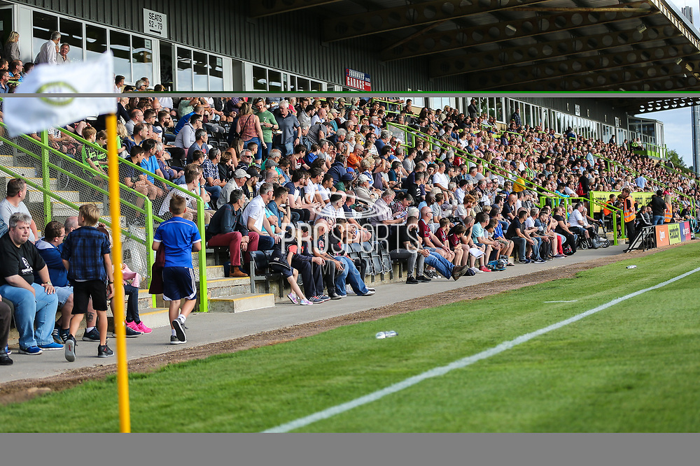 FGR fans during the Pre-Season Friendly match between Forest Green Rovers and Leeds United at the New Lawn, Forest Green, United Kingdom on 17 July 2018. Picture by Shane Healey.