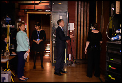 Image ©Licensed to i-Images Picture Agency. 28/09/2014. Birmingham, United Kingdom. Conservative Party Cahirman Grant Shapps backstage before going to give his speech to the  Conservative Party Conference.Picture by Andrew Parsons / i-Images