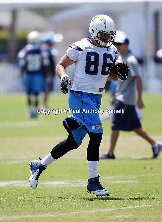 San Diego Chargers tight end Kyle Miller (86) goes out for a pass during the San Diego Chargers Spring 2015 NFL minicamp practice held on Tuesday, June 16, 2015 in San Diego. (©Paul Anthony Spinelli)