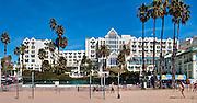 Loews Santa Monica Beach Hotel, Santa Monica, CA, beach; Beachfront, Luxury; Hotel, Panorama