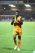 Sako 100 games thanking fans during the Sky Bet Championship match between Brentford and Wolverhampton Wanderers at Griffin Park, London, England on 29 November 2014.