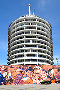 Capitol Records Building With Mural In Front