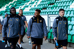 Biyi Alo and Gabriel Oghre of Wasps arrive at Northampton Saints - Mandatory by-line: Robbie Stephenson/JMP - 28/09/2019 - RUGBY - Franklin's Gardens - Northampton, England - Northampton Saints v Wasps - Premiership Rugby Cup