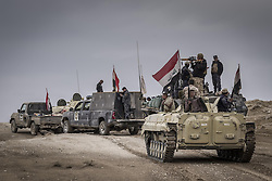 November 2, 2016 - Nineveh Governorate, Iraq - Iraqi army soldiers are entering to Mosul. (Credit Image: © Bertalan Feher via ZUMA Wire)