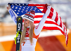 21-02-2018 KOR: Olympic Games day 12, PyeongChang<br /> Ladies Downhill at Jeongseon Alpine Centre / Bronze medal for Lindsey Vonn, of the United States.