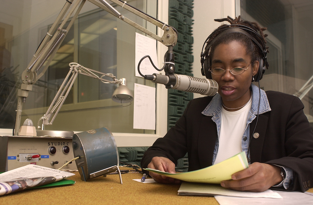 Kim King Working at WOUB  Radio  in RTV building