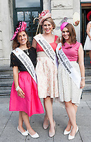 30/07/2015 Ireland's leading model, Roz Purcell,  judged the 4 star,  Hotel Meyrick's annual most stylish lady competition on Kilkenny's Ladies Day of Galway Race Week 2015. Megan Swart, Wicklow Rose, Aisling Hillary London Rose and Ava Mahony Clare Rose attended the event. Photo: Andrew  Downes xposure