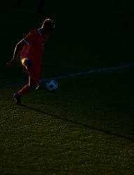BANGOR, WALES - Monday, October 15, 2018: Wales' Luke Jephcott during the UEFA Under-19 International Friendly match between Wales and Poland at the VSM Bangor Stadium. (Pic by Paul Greenwood/Propaganda)