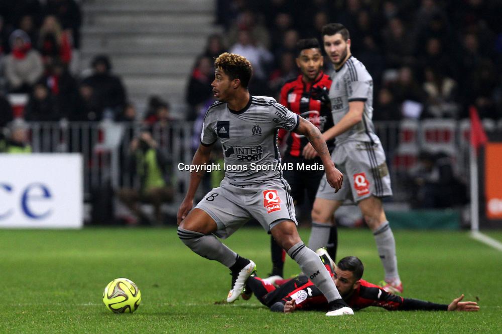Mario LEMINA / Valentin EYSSERIC  - 23.01.2015 - Nice / Marseille - 22eme journee de Ligue 1<br />Photo : Jean Christophe Magnenet / Icon Sport