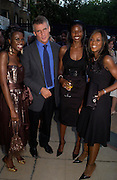 June Sarpong, Christopher Walley, Phoebe Vela and Joanna Gill. The Business Summer party hosted by Andrew Neil. Italian Hotel, Ritz Hotel. 12 July 2005. ONE TIME USE ONLY - DO NOT ARCHIVE  © Copyright Photograph by Dafydd Jones 66 Stockwell Park Rd. London SW9 0DA Tel 020 7733 0108 www.dafjones.com