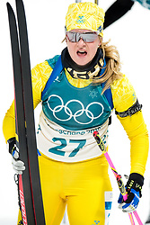 February 12, 2018 - Pyeongchang, SOUTH KOREA - 180212 Mona Brorsson of Sweden  after the Women's Biathlon 10km Pursuit during day three of the 2018 Winter Olympics on February 12, 2018 in Pyeongchang..Photo: Jon Olav Nesvold / BILDBYRN / kod JE / 160156 (Credit Image: © Jon Olav Nesvold/Bildbyran via ZUMA Press)