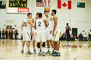 Vermont huddles together during the men's basketball game between the Dartmouth Big Green and the Vermont Catamounts at Patrick Gym on Wednesday December 7, 2016 in Burlington (BRIAN JENKINS/for the FREE PRESS)