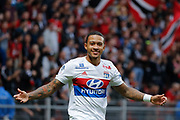 Memphis DEPAY (Olympique Lyonnais) during the French championship L1 football match between Rennes v Lyon, on August 11, 2017 at Roazhon Park stadium in Rennes, France - Photo Stephane Allaman / ProSportsImages / DPPI